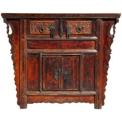 Qing Dynasty Chinese Butterfly Cabinet with Original Patina