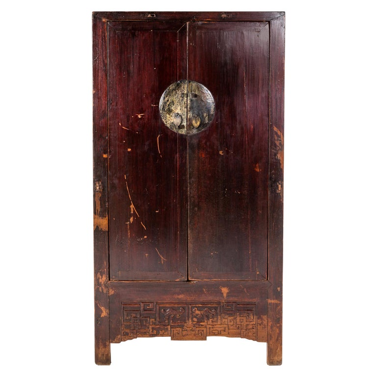 Qing Dynasty Chinese Cabinet with Two Drawers For Sale