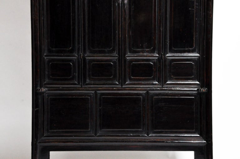 Qing Dynasty Clothing Cabinet with Four Drawers For Sale 2