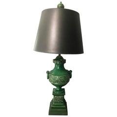 Qing Dynasty Green Urn Lamp