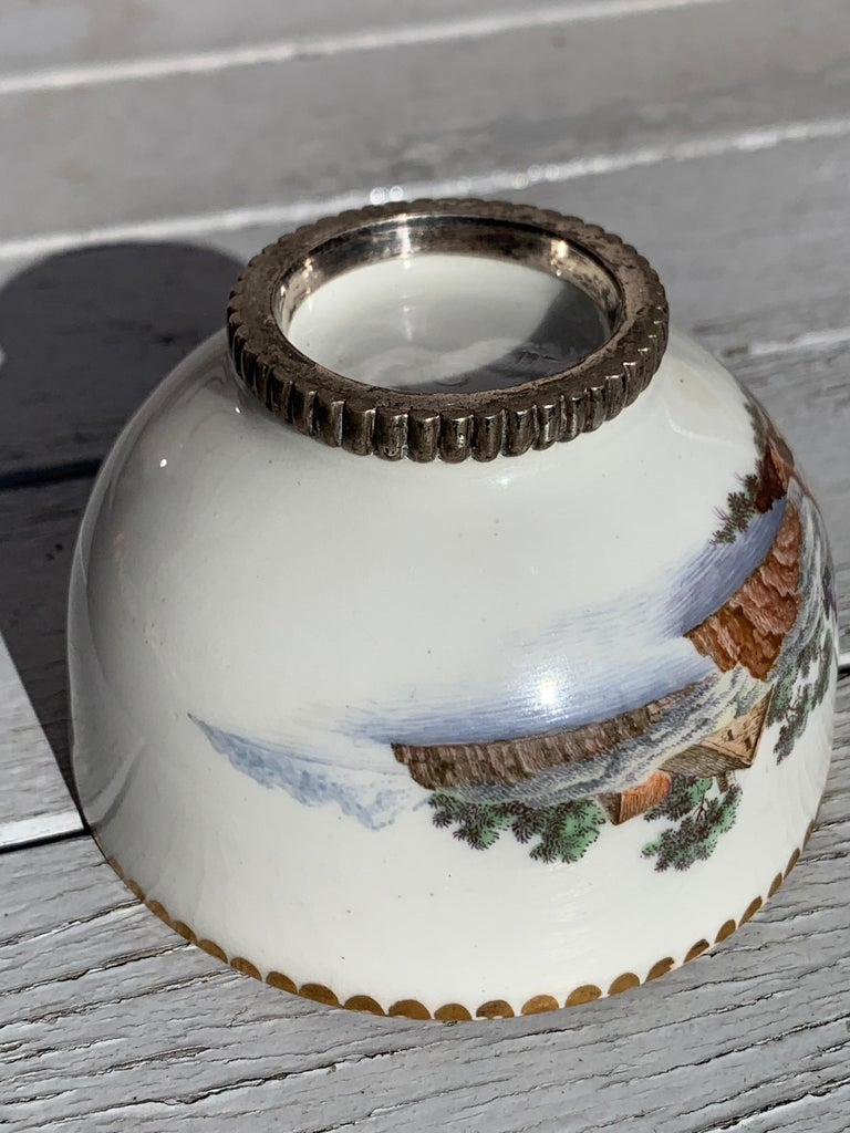 Qing dynasty landscape small cup, China.
