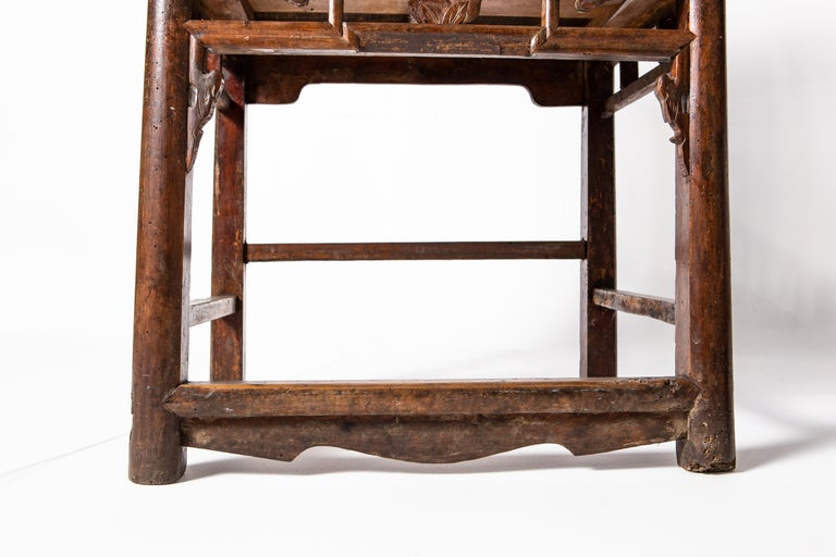 Qing Dynasty Short-Backed Southern Official's Hat Armchairs For Sale 3