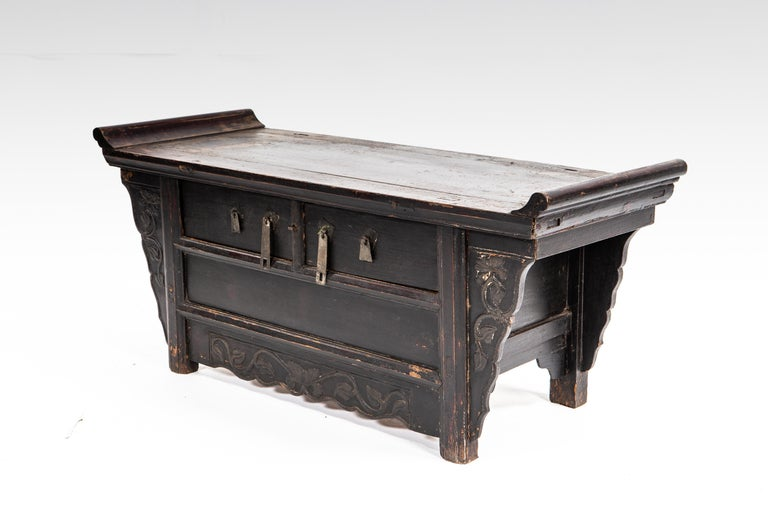 Qing Dynasty Side Chest with Two Drawers For Sale 4