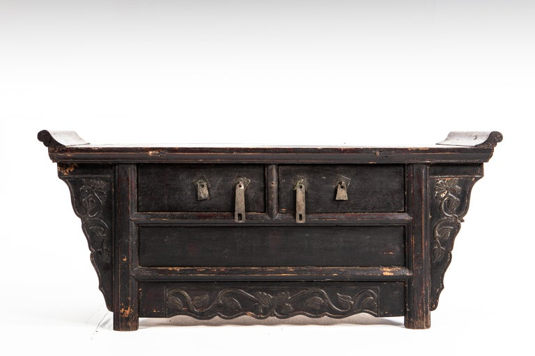 Qing Dynasty Side Chest with Two Drawers For Sale 5