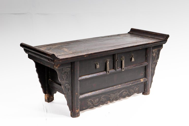 Chinese Qing Dynasty Side Chest with Two Drawers For Sale