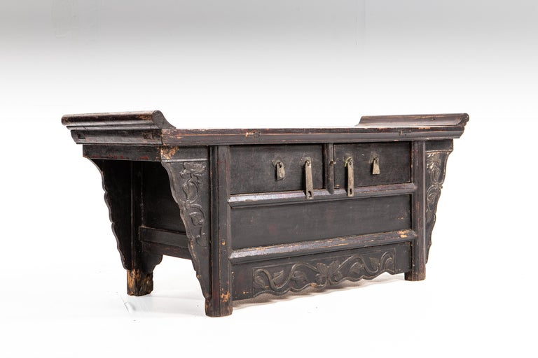 Qing Dynasty Side Chest with Two Drawers In Good Condition For Sale In Chicago, IL