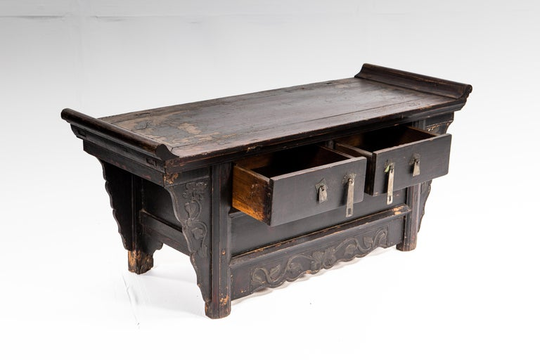 19th Century Qing Dynasty Side Chest with Two Drawers For Sale