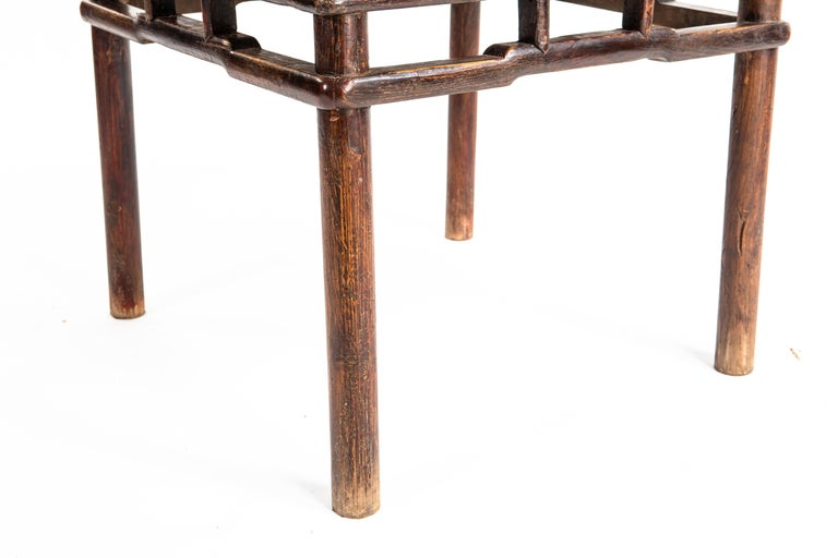 Elm Qing Dynasty Small Side Table For Sale