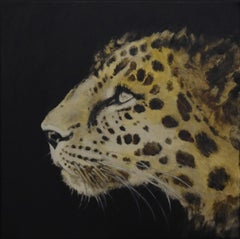 Intuición - 21st Century, Contemporary, Figurative Oil Painting, Leopard, Animal