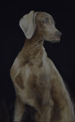 Sir Velvet De Weimer - 21st Century, Contemporary, Figurative Oil Painting, Dog