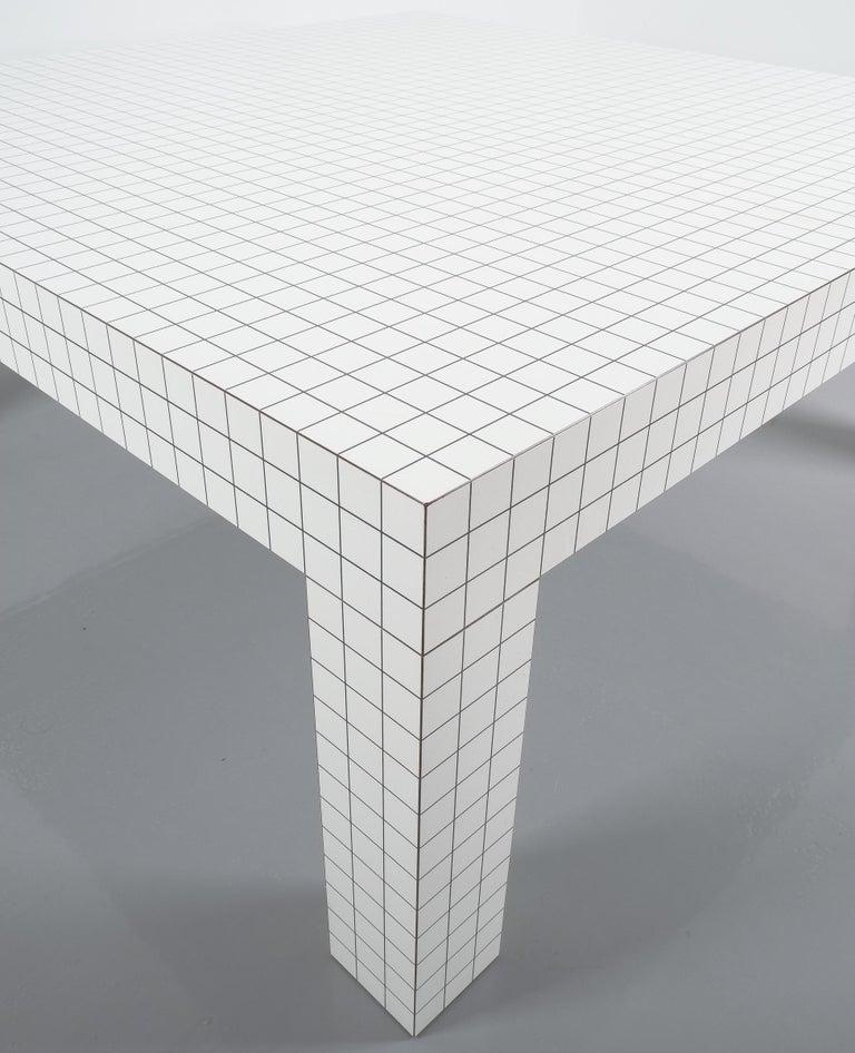 Quaderna White Grid Coffee Table Superstudio for Zanotta, 1970s, Italy For Sale 1