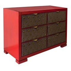 Quadra Red Drawer Dresser
