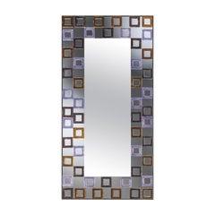 Quadrati Color Mirror by Ongaro & Fuga