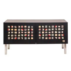 Quadratini Magici Intarsia Sideboard by Aoi Hubert Kono