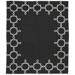 Quadrato Magico Reverse Cashmere Wool Chain Stitch Rug Designed By Barbara Frua