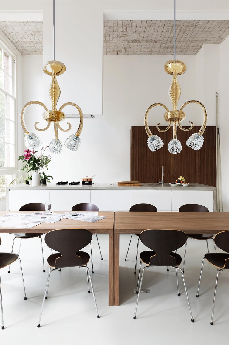 Quadri 5718 03 Chandelier in Glass, by Barovier & Toso For Sale 2