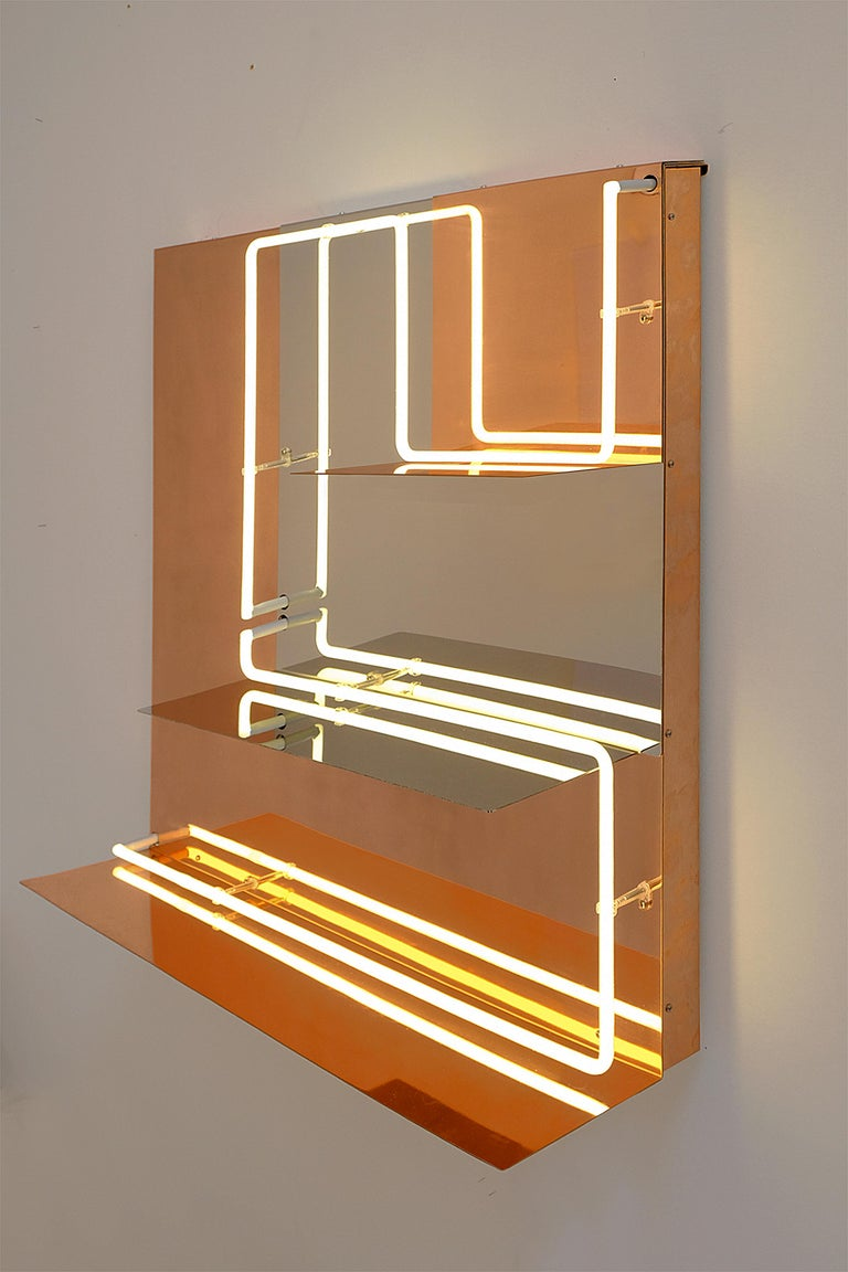 Quadri Luminosi in Mirror and Steel Handmade in Italy  For Sale 1
