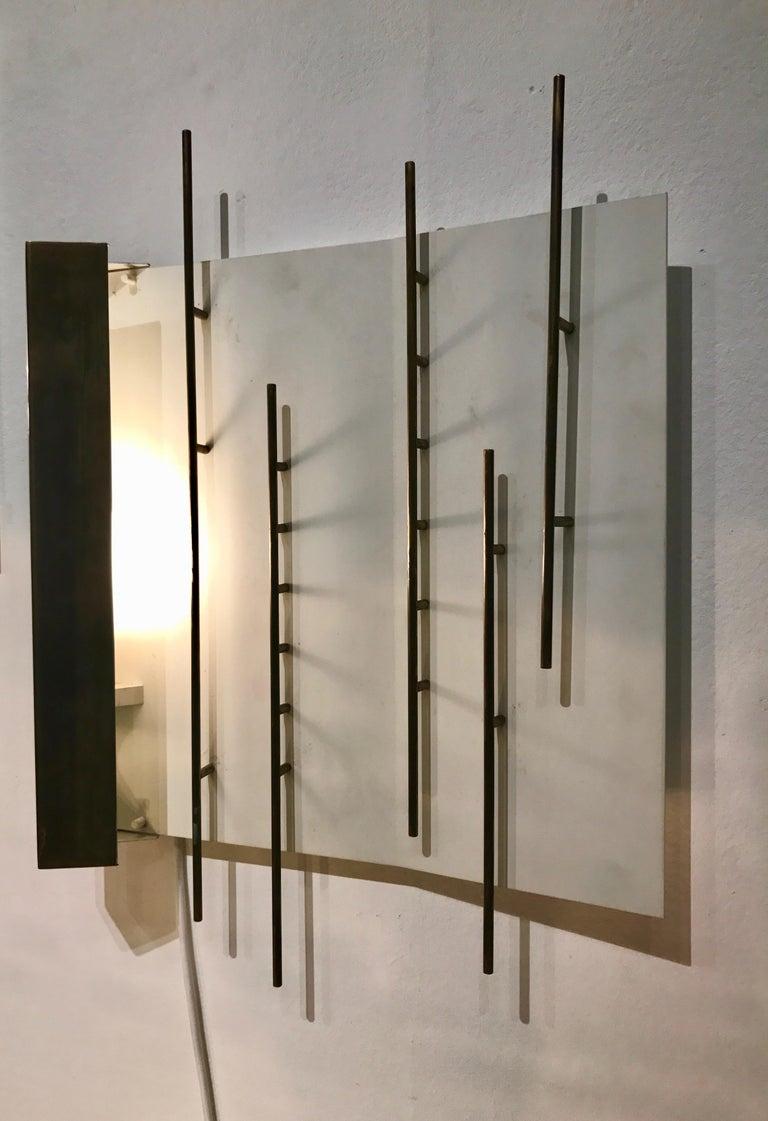 Brass Quadri Luminosi Model Number 575 and 576 Designed by Gio Ponti For Sale