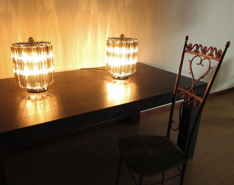 Quadriedri Table Lamp, Venini Style, Transparent and Smoked Prism For Sale 3