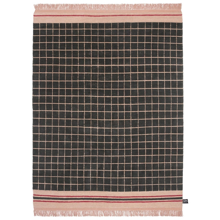 For Sale: Black (#1105) Quadro Celeste A Rug by Studiopepe for CC-Tapis