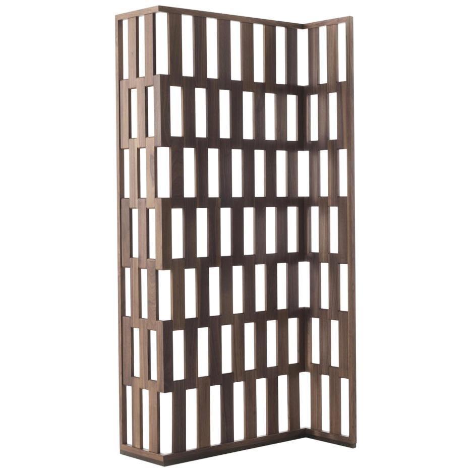 Quadry Screen in Solid Walnut Wood