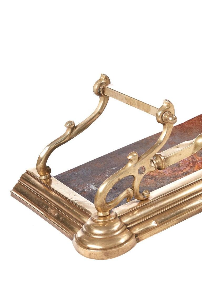 Quality Antique Brass Art Nouveau Fender For Sale 5