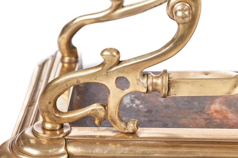 19th Century Quality Antique Brass Art Nouveau Fender For Sale