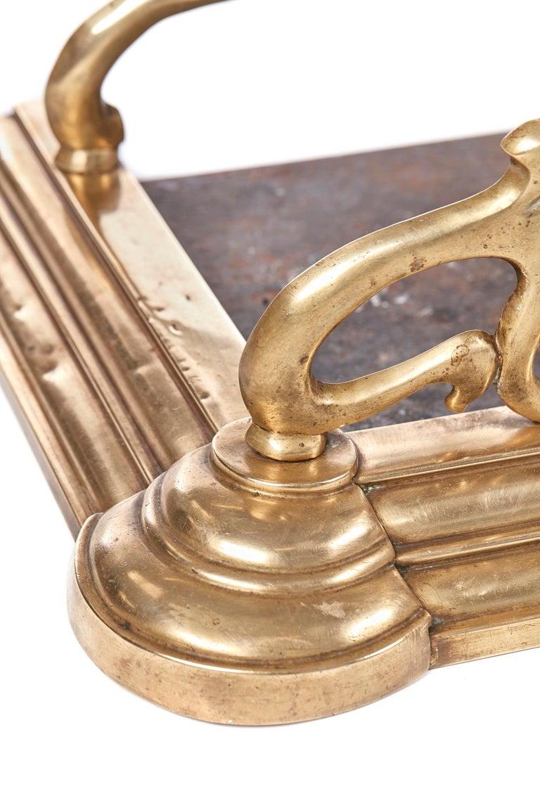 Quality Antique Brass Art Nouveau Fender For Sale 1