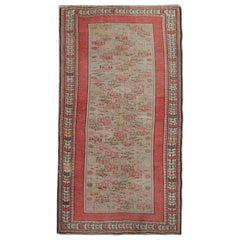 Quality Antique Carpet Caucasian Rug Oriental Pink Handmade Living Room Rug