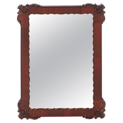 Quality Antique Carved Mahogany Wall Mirror