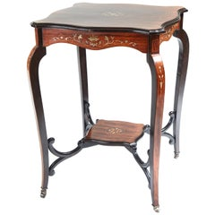 Quality Antique Inlaid Rosewood Occasional Table
