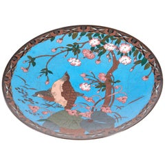 Quality Antique Japanese Cloisonné Plate
