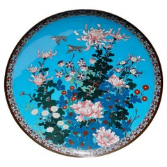 Quality Antique Japanese Cloisonné Plate or Wall Art Decoration