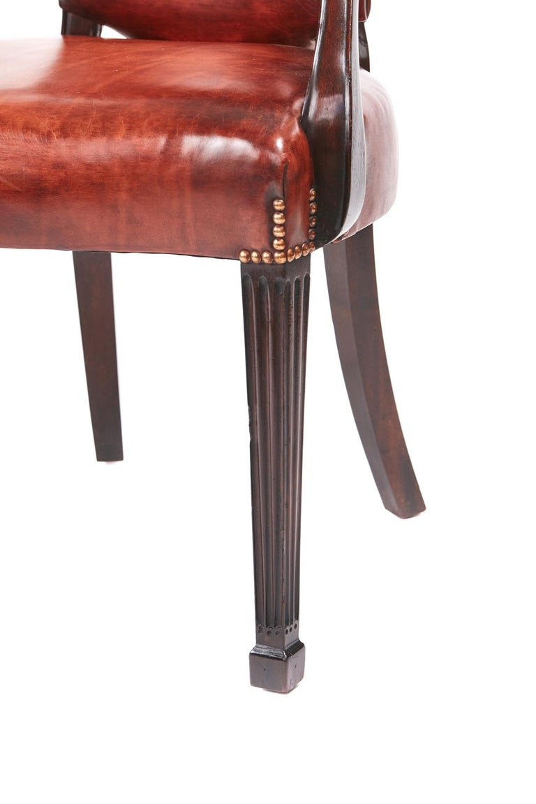 Quality Antique Mahogany Desk Chair For Sale 1