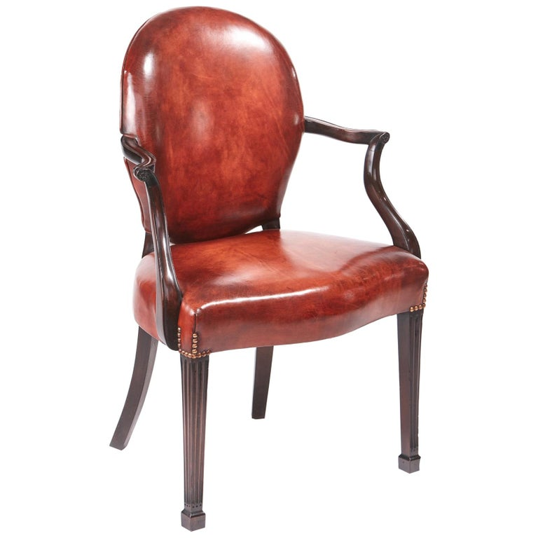 Quality Antique Mahogany Desk Chair For Sale