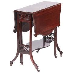 Quality Antique Mahogany Sutherland Table, circa 1890