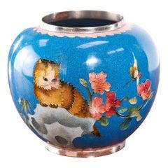 Quality Antique Miniature Chinese Cloisonne Vase
