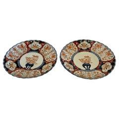 Quality Antique Pair of Japanese Imari Plates