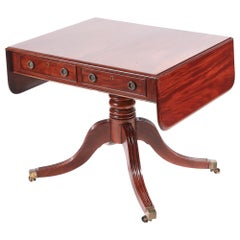 Quality Antique Regency Mahogany Sofa Table