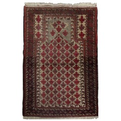 Quality Antique Rug Afghan Baluch, Handmade Carpet Wool Living Room Rugs