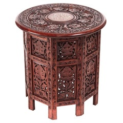 Quality Antique Victorian Carved Round Centre Table