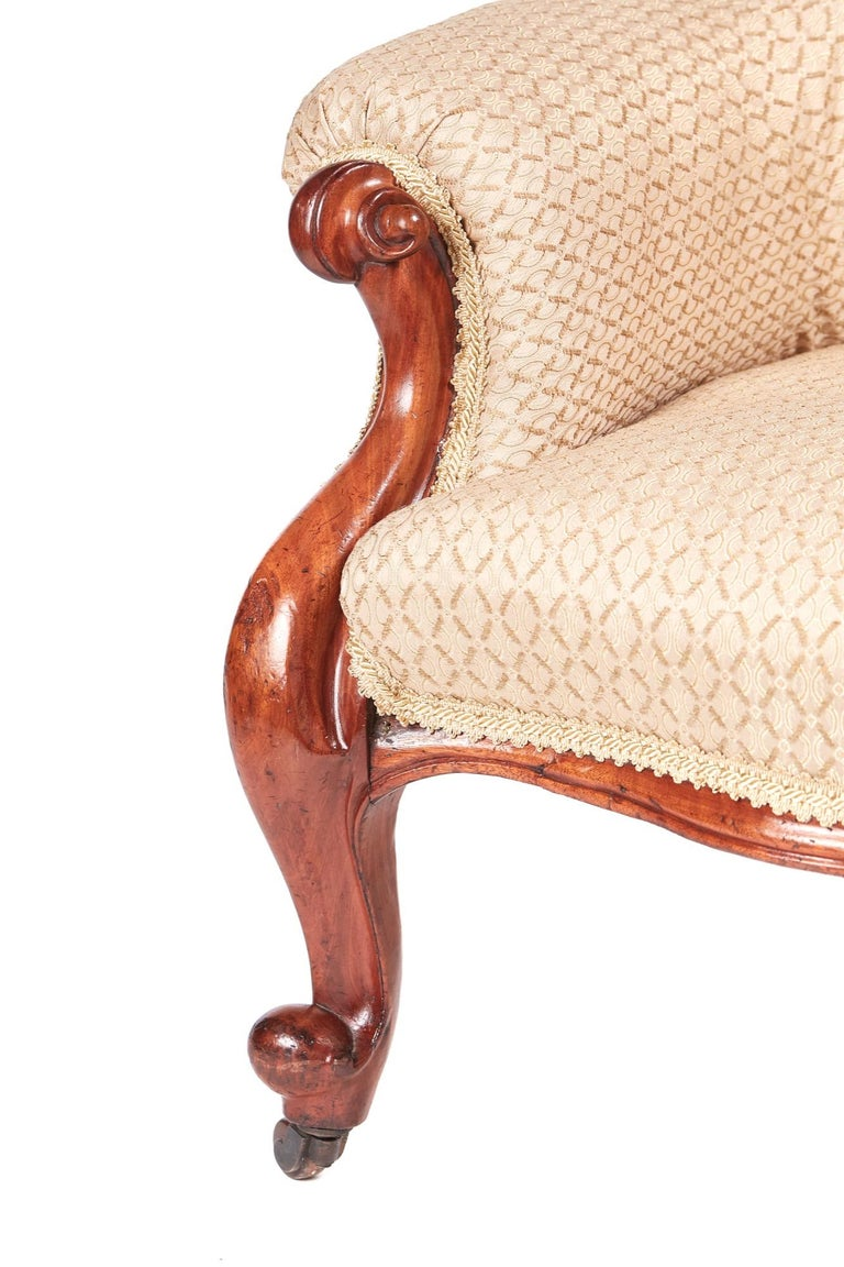 Carved Quality Antique Victorian Mahogany Armchair For Sale