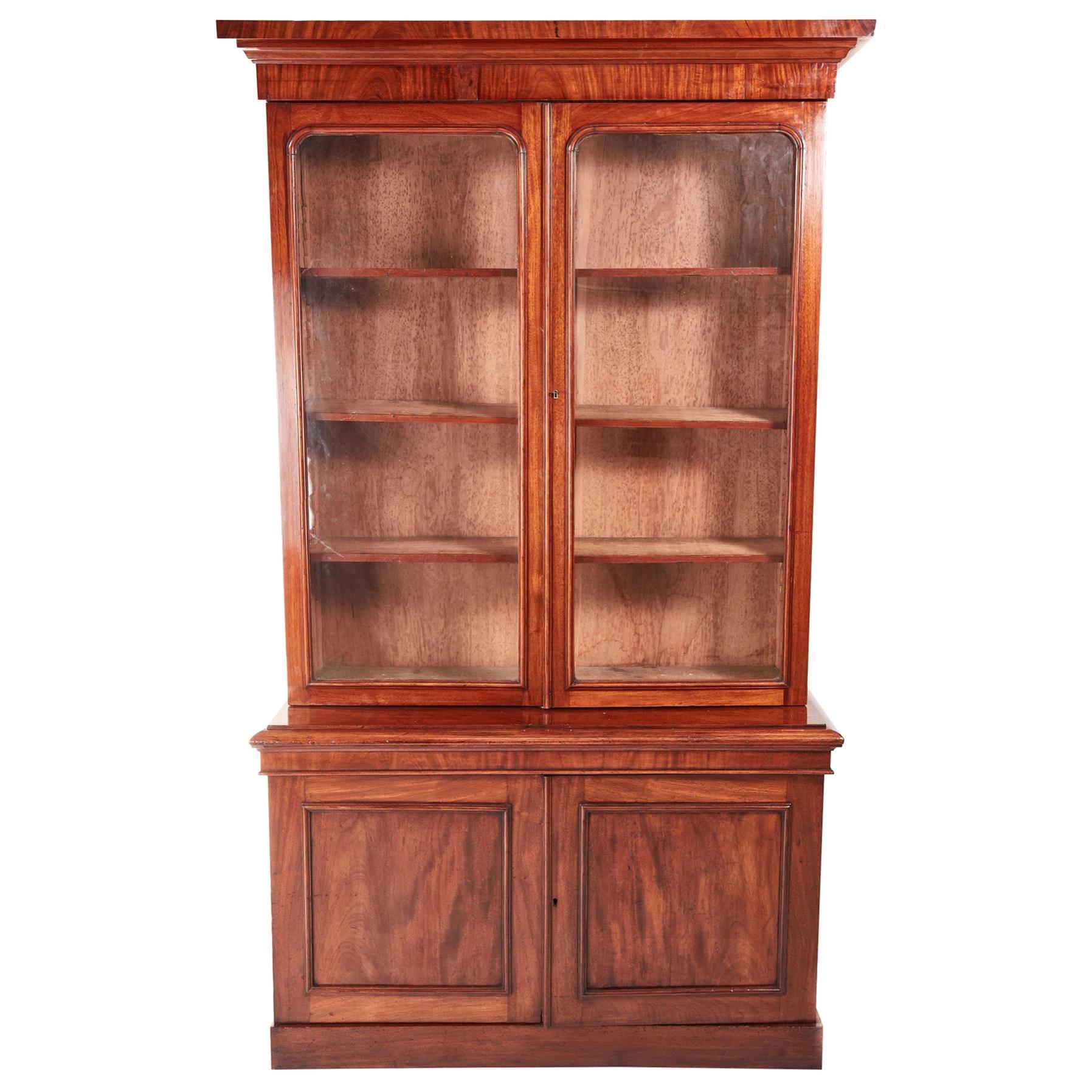 Quality Antique Victorian Mahogany Bookcase