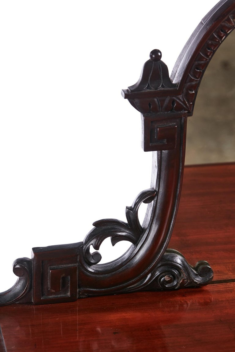 Quality Antique Victorian Mahogany Carved Mirror Back Whatnot In Excellent Condition For Sale In Stutton, GB