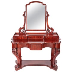 Quality Antique Victorian Mahogany Dressing Table