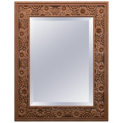 Quality Carved Wood Wall Mirror Frame from Oak or Beech