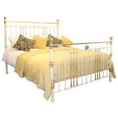Quality Cast Iron Bed in Cream, MSK58