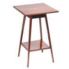 Quality Edwardian Mahogany Inlaid Lamp Table