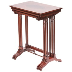 Quality Edwardian Nest of 3 Mahogany Inlaid Tables
