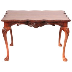Quality Freestanding Carved Mahogany Centre Table